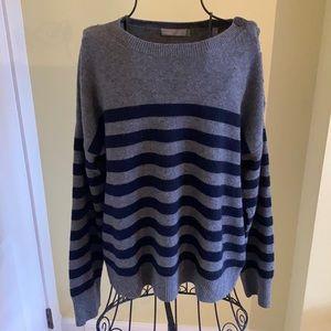 Striped Vince Crewneck Cashmere Sweater Sz L